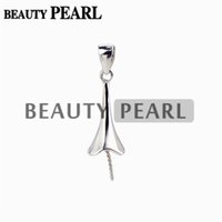 10 Pieces Pendant Pearl Mounting 925 Sterling Silver Jewelle...