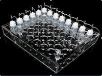 Acrilico E CIG Display Cases Clear Stand Shelf Rack per ECIG E Liquido 10ml 20ml 30ml 50ml Bottiglia vuota Bottiglia vuota Bottiglie di stoccaggio Bottiglie