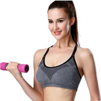 2017 professional high-intensity yoga clothing vest shockproof fixed running fitness sports underwear bra thin section wicking summer cheap