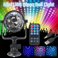 Rgb luz do estágio do diodo emissor de luz mini 3 w controles remotos luz bola de discoteca luzes led partido lâmpada show stage iluminação efeito usb powered dc5v