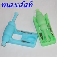 Mini colector de néctar de silicona Glow in the Dark con clavo de titanio y herramientas Dabber agua néctar de silicona Tubos sin DHL