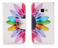 Flip Cover Pour Samsung Galaxy J1 2016 Ace Mini Case Portefeuille Carte De Luxe En Cuir À Motifs Pour Galaxy J1 J120 J120f