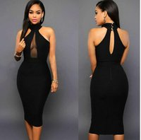 New black elegant dresses for women slim casual summer sexy ...