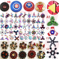 Hot sell 140 types Fidget spinner Rainbow double hand spinne...