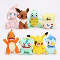 8pcs lot plush Bulbasaur Charmander Piplup Squirtle Eevee Me...
