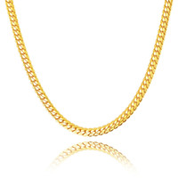 18K gold- plated 6MM snake chain men' s necklace fashion ...