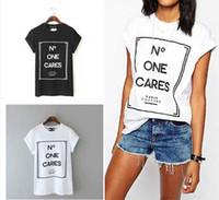 All'ingrosso-estate 2016 le donne non importa a nessuno maglietta estate femme Coreano femminile moda vetement femme tumblr poleras mujer camiseta T-shirt