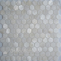 Pure white 100% natural Chinese freshwater shell mother of pearl mosaic tile for kithen and washroom decoration wall tile hexagon style