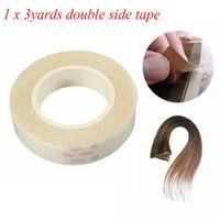 1 PCS de alta qualidade 1 cm * 3m fita adesiva frente e verso para extensões de cabelo de trama da pele - fita super adhensiva