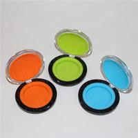 2017 heißer Verkauf 6 ml silikon container, acryl muschelschale container, glas / silikon bong silikon gläser tupfen wachs container kostenloser versand DHL