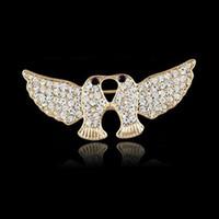 Pigeon Spilla nuova pace colomba Spilla pin sciarpa di cristallo lucida strass per le donne di nozze sposa gioielli spilla regali di natale all'ingrosso