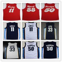 2902aa9e12e6 33 Marc Gasol Jersey Throwback 1970 Sounds Red Navy Blue White 50 Zach  Randolph Shirt 11 Wholesale 11 Conley Basketball Jerseys Mike ...