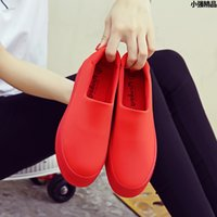 red slip on flat shoes woman espadrilles loafers alpargatas ...
