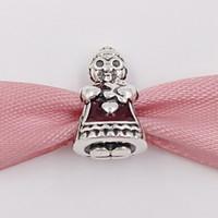 Boże Narodzenie 925 Sterling Silver Beads Pani Christmas Urok Pasuje Europejski Pandora Styl Biżuteria Bransoletki Naszyjnik 792005EN07 Prezenty zimowe