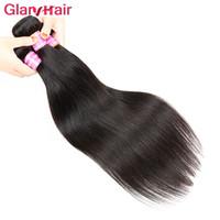 Vendeurs de cheveux glissants Vente en gros d'articles de vente en gros de la vente en gros indien indien péruvien brésilien droit Virgin Remy Remy Extensions de cheveux humains Bundles
