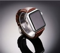 High Quanlity Lederband für Apple Watch Series 2/1, echtes Lederarmband Ersatz für Apple Watch 42MM