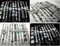 Nouveaux 10pcs / pack assorti styles mixtes interchangeables 18mm féminin vintage bricolage boutonnage bracelets bracelets Noosa style bijoux