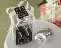 스파클링 다이아몬드 모양의 약혼 키 링 KeyChain 결혼식 호의 신부 샤워 호의 암탉 나이트 크리스마스 파티 선물 연회 테이블 장식