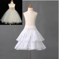 Brand New Kinder Petticoats mit Rüschen kleinen Mädchen / Kinder Krinoline Weiß 1 Hoop 2 Schichten Blumen-Mädchen-Kleid-formales Underskirt