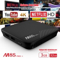 Новый M8S Pro MECOOL Android 7.1 TV Box 2GB 3GB RAM 16GB ROM Amlogic S912 Octa Core Youtube 4K Media Player Bluetooth 4.1 Dual Wifi AC S905W