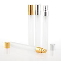 10 ml voyage givré en verre bouteille de parfum rechargeable atomiseur pulvérisateur