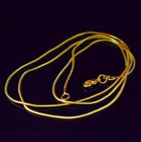 Collana a catena serpente placcata oro 18 carati per donna Catenacci per aragosta Smooth 1.2MM Link Collana Dichiarazione Gioielli Misura 16 18 20 22 pollici