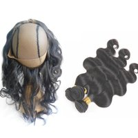 Brazilian Body Wave Human Hair Bundles With 360 Lace Frontal...