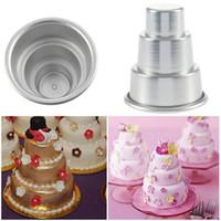 Мини 3 уровня торт Пан банки кекс пудинг пицца плесень торт лотки партия главная день рождения DIY пудинг инструменты 30 * 60*80 мм