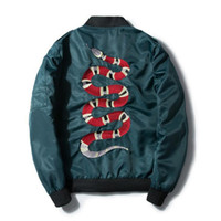 BF embroidery snake jackets for men fashion autumn flight ma...