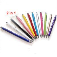 2 in 1 Touch Screen Stylus Pen for iPhone 8 iPad Samsung PC ...