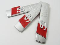 3D S Linha Sline Grelha Dianteira Do Carro Emblema Emblema Adesivos Acessórios Styling Para Audi A1 A3 A4 B6 B5 B5 B5 A5 A6 C5 C6 A7 TT