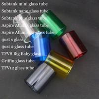Pyrex tubo di vetro di ricambio sostituibile per TFV8 Big Baby Kanger Subtank Mini Nano Plus Ijust s Ijust 2 Aspire Atlantis v2.0 Griffin