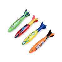4PCS SET Underwater Torpedo Rocket Swimming Pool Toy Swim Di...