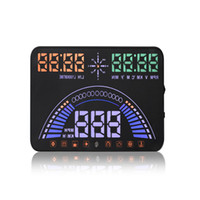 Новый 5,8-дюймовый S7 автомобиль HUD Head Up дисплей с OBD2 интерфейс Plug Play км/ч MPH предупреждение о превышении скорости объединить OBD GPS системы свободно переключаться