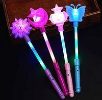 Blinkende Leuchtstäbe Magische LED Zauberstäbe Schlagstöcke DJ Fairytale Princess Kostüm Kostüm LED Glow Star Crown Buttery Moon Zauberstab Kinderspielzeug