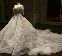 Vestidos de Noiva Романтическая Милая Сауудиа Аравия Бальное платье Свадебные платья 2021 Сказаны, что Mhamad Sexy High Back Applices Кружевные свадебные платья
