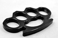 Outdoor sports Black Thin Steel Brass knuckle dusters, Self D...