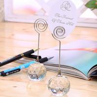 Wedding Favor Crystal Diamond Ball Place Posiadacze Karty Tabela Numery Uchwyt Party Dekoracji Darmowa Wysyłka Za 3562