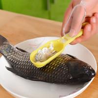 주방 도구 빠른 청소 물고기 피부 비늘 Scaler 브러시 리무버 필러 스케일 면도기 물고기 규모의 비행기 물고기 비늘 flaker