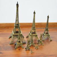 Regalos creativos Metal Art Crafts Paris Torre Eiffel Modelo Estatuilla de Aleación de Zinc Recuerdos de Viaje Decoración para el hogar Envío de DHL Gratis