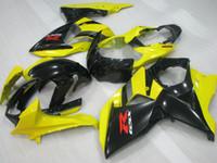 Kit de carénage de moisissure d'injection pour Suzuki GSXR1000 09 10 11-15 Jaune Black Farénings Ensemble GSXR1000 2009-2015 OT03