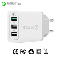 Quick Charge 3.0 30W USB Phone Charger QC3.0 Travel Charger parete mobile adattatore carica rapida per Samsung Galaxy S8 S7 iPhone 8 8plus