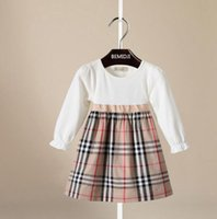 Wholesale Brand New Toddler Girls Fashion Plaid Long Sleeved...