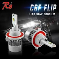 C6F Автомобильная светодиодная фара H7 H1 H3 H11 / H8 HB3 / 9005 HB4 / 9006 880/881 72W 7600LM / set Сверхмощная замена HID лампа C6F H7 светодиодная лампа