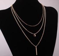 جديد وصول سحر مجوهرات النساء القلائد المعلقات steampunk النحاس الخرز متعدد الطبقات قلادة 60 قطع الشحن مجانا