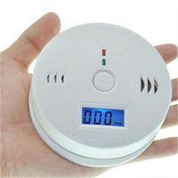 CO Karbon Monoksit Dedektörü Alarm Sistemi Ev Güvenlik Zehirlenmesi Duman Gaz Sensörü Uyarı Alarmlar Tester ile LCD Ekran ile