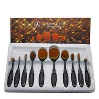 Sıcak satış 10 adet = 1 takım makyaj fırça tipi fırça makyaj fırça fabrika stokta toptan