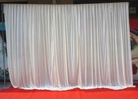 3M * 3M telón de fondo blanco fiesta de fondo cenefa boda telón de fondo etapa cortina 2 unid para 3 * 6 M