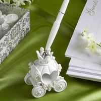 Brand New Fashion Hochzeit Stift mit Elegent Pumpkin Pen Stand Ausgezeichnete Hochzeit Liefert Schöne Hochzeit Dekoration