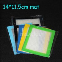 Silicone wax pads mats small 11x8.5cm or 14x11.5cm square mat dabber sheets jars dab tool for silicon dabber oil containers